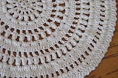 Úžitkový textil - Háčkovaný kruh béžový - 5262759_