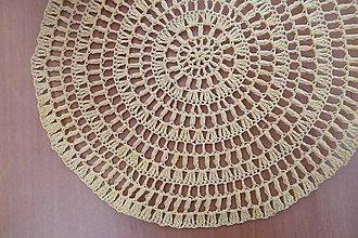 Úžitkový textil - Háčkovaný kruh béžový - 5262758_