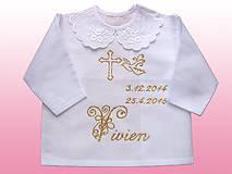 Detské oblečenie - košieľky na krst - 5266708_