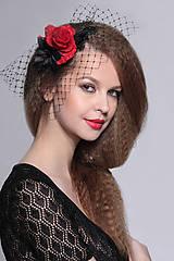 Ozdoby do vlasov - francúzsky čierny závoj Karmen, typ 107 - 5267043_
