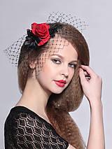 Ozdoby do vlasov - francúzsky čierny závoj Karmen, typ 107 - 5267045_