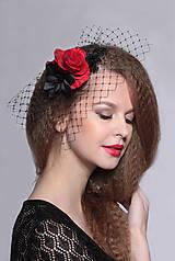 Ozdoby do vlasov - francúzsky čierny závoj Karmen, typ 107 - 5267046_