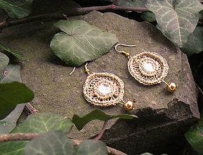 Náušnice - Zlaté kruhy - 5265009_