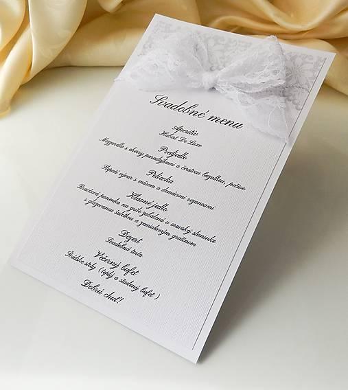 6470467ad539 Svadobné menu Lace Pearl   Anije - SAShE.sk - Handmade Papiernictvo