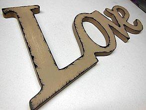 Dekorácie - nápis Love - hned k odberu - 5265827_