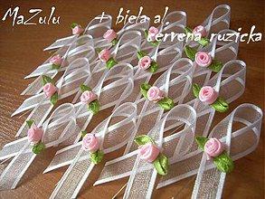 Pierka - svadobné pierka s ružičkou - 5267072_