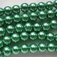 Korálky - Vosk.perly 6mm-30ks (zelená pastel) - 5268022_
