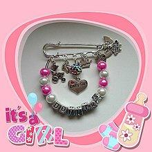Odznaky/Brošne - Personalizovaná brošnička na kočík, či pre maminy, babiny, tety na kabelku - 5265074_