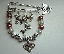 Odznaky/Brošne - Personalizovaná brošnička na kočík, či pre maminy, babiny, tety na kabelku - 5265082_