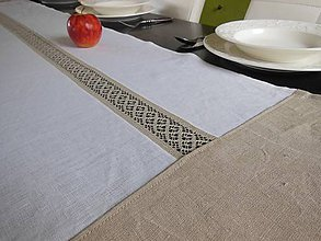 Úžitkový textil - Ľanová štóla Nostalgie - 5265094_