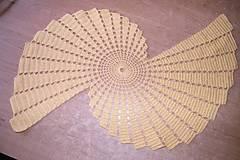 Úžitkový textil - Žltá háčkovaná krása - 5266963_