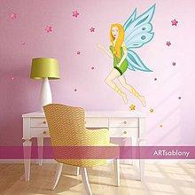 Dekorácie - (3383f) Nálepka na stenu - Víla - 5268575_