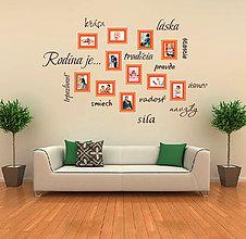 Dekorácie - Nálepka na stenu - Rodina je... - 5268925_