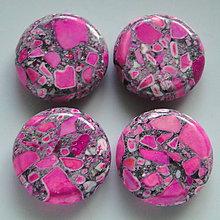 Minerály - MARBLE 20mm-1ks (ružová) - 5268137_