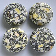 Minerály - MARBLE 20mm-1ks (žltá) - 5268142_