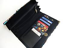 Peňaženky - Barevné Bublinky - 17 cm, na spoustu karet - 5271113_