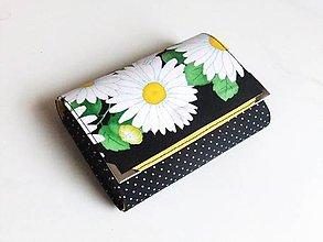 Peňaženky - Romantické kopretiny - peněženka i na karty - 5271075_
