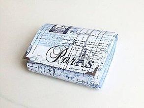 Peňaženky - Paříž v modrém - peněženka i na karty - 5271171_