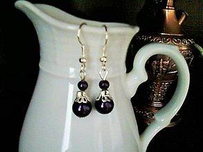 Náušnice - night pearls - 5271197_