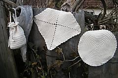 Úžitkový textil - Háčkovaná súprava - 5271179_