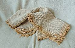 Textil - Dečka do kočíka- v hnedom :) - 5273625_