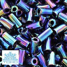 Korálky - TOHO rokajl (Bugle 3mm) Metallic rainbow iris  - 5274905_