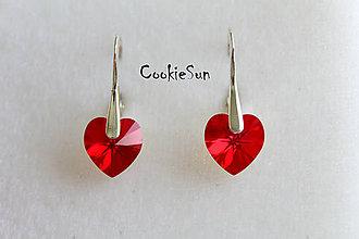 Náušnice - Náušnice Swarovski Heart Light Siam AB - 5272691_