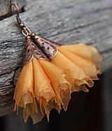 Náušnice - Tanečnice žlto-oranžové - 5274206_