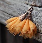 Náušnice - Tanečnice žlto-oranžové - 5274207_