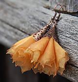 Náušnice - Tanečnice žlto-oranžové - 5274208_