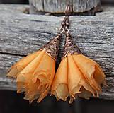Náušnice - Tanečnice žlto-oranžové - 5274211_