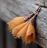 Náušnice - Tanečnice žlto-oranžové - 5274215_
