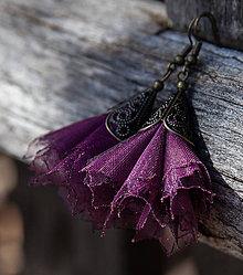 Náušnice - Tanečnice purpurové - 5274268_