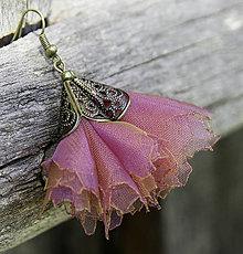 Náušnice - Tanečnice fialkovo-zelené - 5274319_