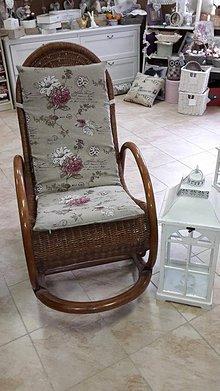 Úžitkový textil - Poťah na sedák na záhradné kreslo - 5274589_