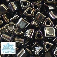 Korálky - TOHO rokajl (Triangle 3mm) Metallic iris brown - 5277915_