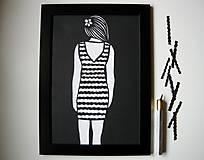 Obrazy - Vlny na šatách... - 5276742_
