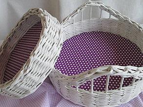 Košíky - Bodka na fialovej - 5277455_