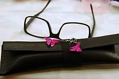 Náušnice - Nesmírně růžoví motýli - 5278240_