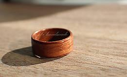 Prstene - Drevený prsteň - Teak - 5276901_