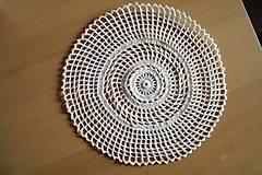 Úžitkový textil - Háčkovaný kruh maslovej farby - 5277793_