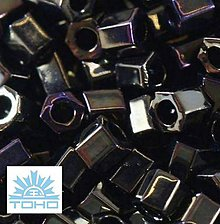Korálky - TOHO rokajl (Hex 3mm) Metallic nebula - 5280025_