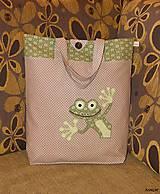 - Nákupná taška - zvedavá žabka - 5279227_