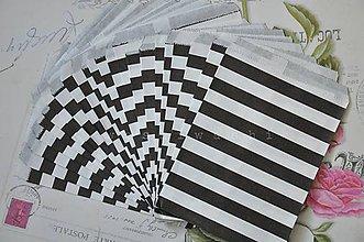 Obalový materiál - papierovy sacok namornicky pruh cb - 5283812_