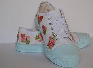 Obuv - flowers - tenisky - 5283684_