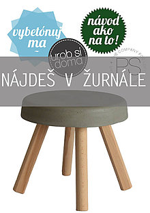 Návody a literatúra - BETÓNOVÝ STOLÍK - NÁVOD - 5282415_