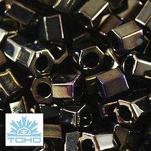 Korálky - TOHO rokajl (Hex 3mm) Metallic iris brown - 5282666_