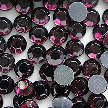 Komponenty - HOT-FIX 5,8mm-1ks (tm.fialová) - 5283712_