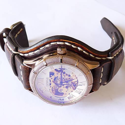 313f31711 Vintage hodinky pánske hnedé / leon - SAShE.sk - Handmade Náramky