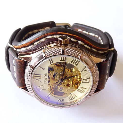 Vintage hodinky pánske hnedé   leon - SAShE.sk - Handmade Náramky 1299f3d7235